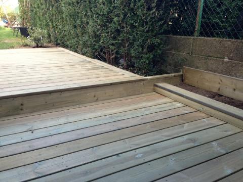 Terrasse en bois autoclave