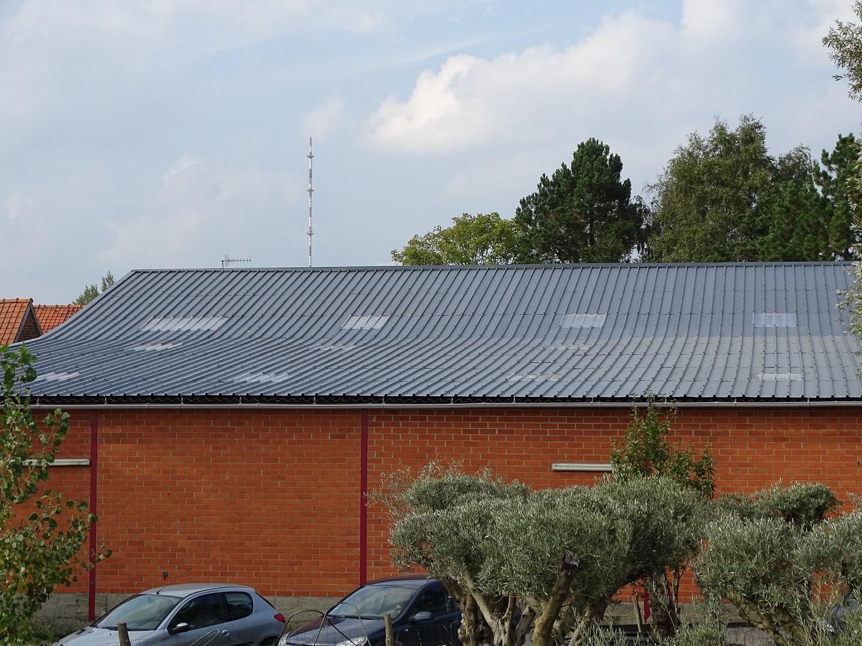Rénovation d'une toiture en fibrociment