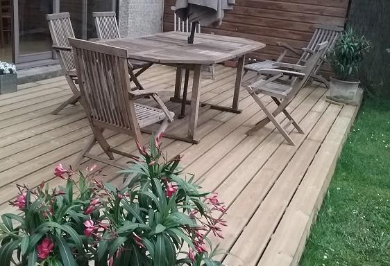 lame de terrasse autoclave profil biseauté