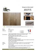 Parquet Chêne 21 mm – fiche technique