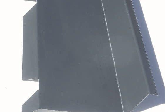 Faîtière contre mur crantée 7016 gris